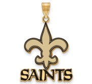 New Orleans Saints Large Enamel Pendant