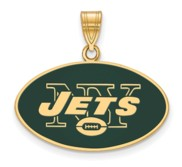 New York Jets Large Enamel Pendant