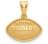 LogoArt Oakland Raiders Football Pendant