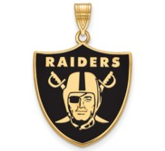 Oakland Raiders Large Enamel Pendant