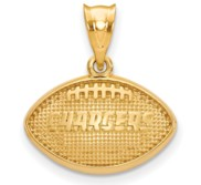 LogoArt Los Angeles Chargers Football Pendant
