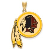Washington Redskins Large Enamel Pendant