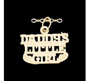 14K Yellow Gold Children s  DADDY S LITTLE GIRL Pendant
