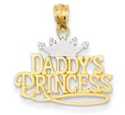 14k Two Tone Gold Daddy s Princess Pendant