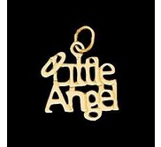 14K Yellow Gold Teen  Little Angel  Pendant