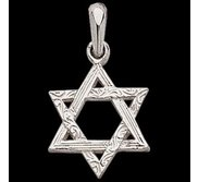 Sterling Silver Teen Textured Star Of David Medal