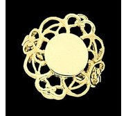 14K Gold Women s Oval Signet Ring with Filigree Design