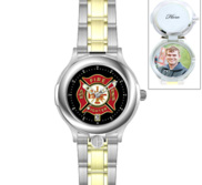 Portrait Watch Firefighter s Watch  Two Tone  for Men