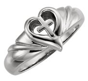 Heart   Cross Ring