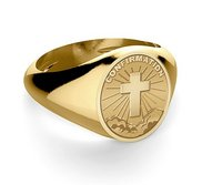 Confirmation Cross Religious Ring