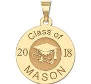 2018 Personalized Round Graduation Charm