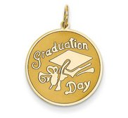 Graduation Day  Round Graduation Charm or Pendant