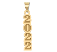 2021 Vertical Graduation Charm or Pendant