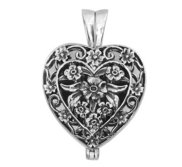 Premium Weight Sterling Silver Cremation Ash Holder Heart Locket