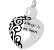 Stainless Steel Always In My Heart Cremation   Ash Holder