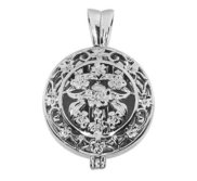 Premium Weight Sterling Silver Cremation Ash Holder Round Locket