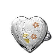 14k White Gold  1 Grandma Locket Ring
