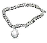 Sterling Silver Oval Locket Bracelet