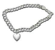 Sterling Silver  Sweetheart  Locket Bracelet