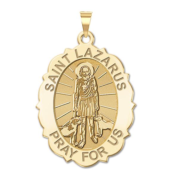 0eb65073c1f Saint Lazarus Oval Color Religious Medal