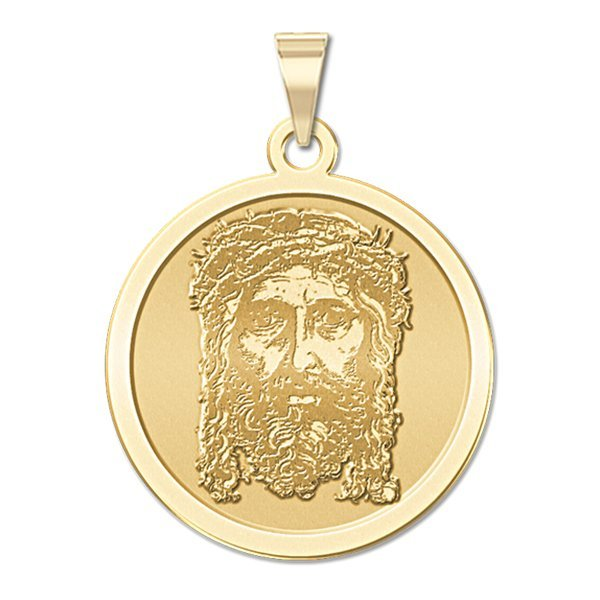 PicturesOnGold.com Saint Leo Religious Medal 3//4 Inch Size of a Nickel in Solid 14K Yellow Gold