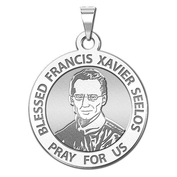 Solid 14K Yellow Gold PicturesOnGold.com Saint Francis Xavier Round Religious Medal 1 Inch X 1 Inch
