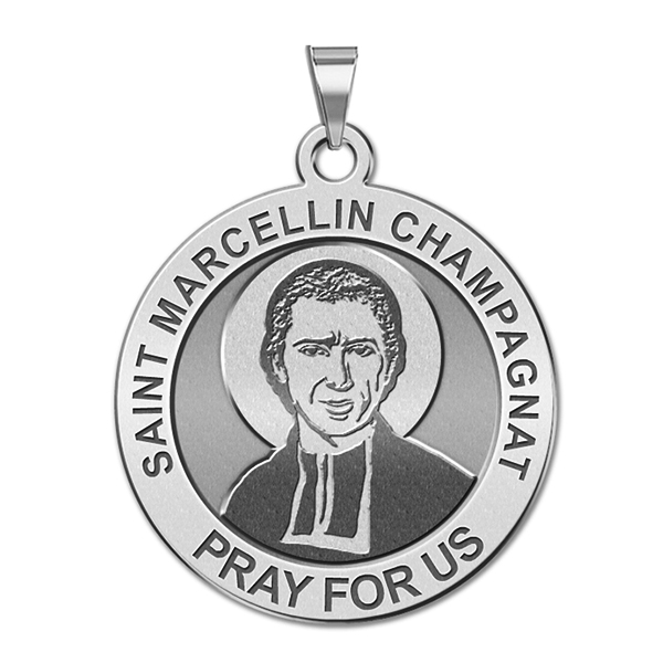 Saint Marcellin Champagnat Round Religious Medal EXCLUSIVE