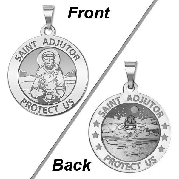 Saint Adjutor Doubles Sided Male Swimmer Medal - EXCLUSIVE