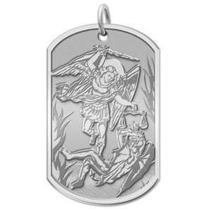 Saint Michael Dog tag Religious Medal  EXCLUSIVE