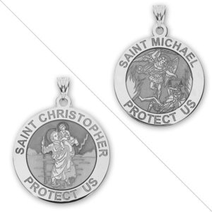 Color PicturesOnGold.com Saint Christopher Perfect Octagon Religious Medal