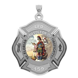 Customized Saint Florian Badge Religious Color Medal  EXCLUSIVE