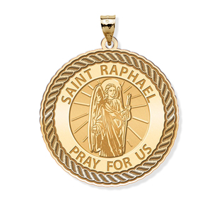PicturesOnGold.com Saint Florian Round Religious Medal Color 14K Yellow or White Gold or Sterling Silver