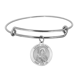 Saint Clare of Assisi Expandable Bracelet