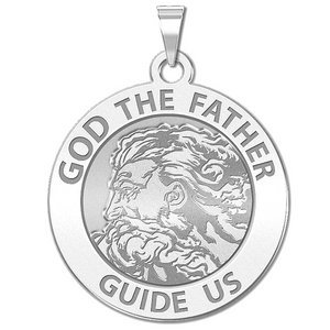 GOD The Father Round Religious Medal  EXCLUSIVE