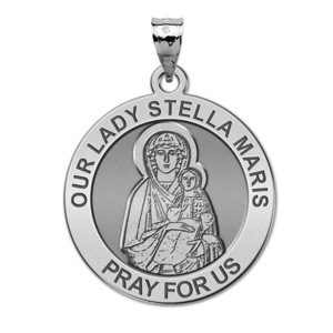 Our Lady Stella Maris Round Religious Medal  EXCLUSIVE
