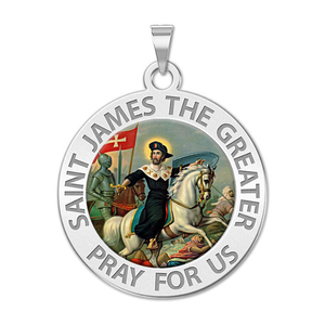 Saint James the Greater Religious Medal  Color EXCLUSIVE
