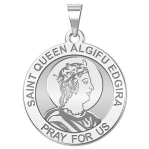 Saint Queen Algifu Edgira Round Religious Medal    EXCLUSIVE