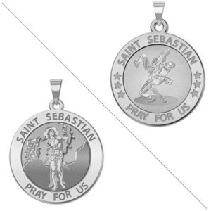 Wrestling   Saint Sebastian Doubledside Sports Religious Medal  EXCLUSIVE
