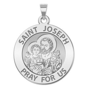 Available in Sterling Silver PicturesOnGold.com Saint Joseph Religious Engravable Keychain