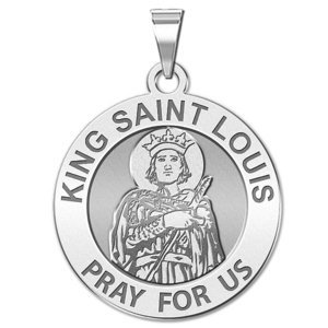 King Saint Louis Religious Medal  EXCLUSIVE
