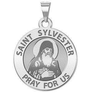 Saint Sylvester Religious Medal  EXCLUSIVE