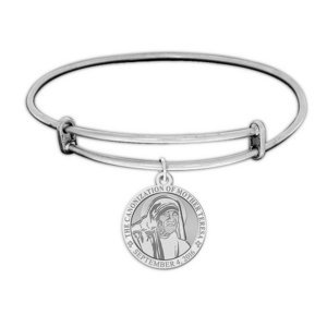 Canonization of Mother Teresa Commemorative Expandable Bracelet  EXCLUSIVE  Embossed or Color