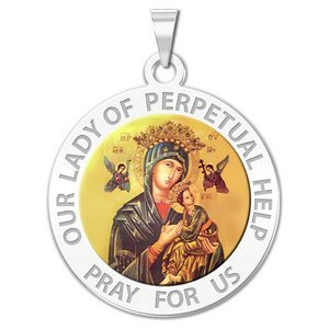 Our Lady of Perpetual Help Religious Medal Color  EXCLUSIVE