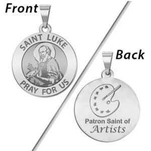 Saint Luke Double Sided Artists Religious Medal  EXCLUSIVE