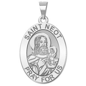 Saint Neot OVAL Religious Medal   EXCLUSIVE