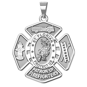 Saint Florian Patron of Firefighters Badge Religious Medal
