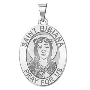 Saint Bibiana Medal   Oval  EXCLUSIVE