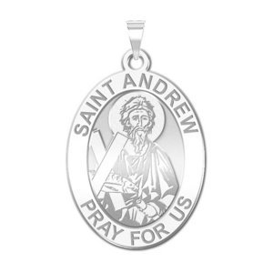 Saint Andrew Oval Religious Medal  EXCLUSIVE