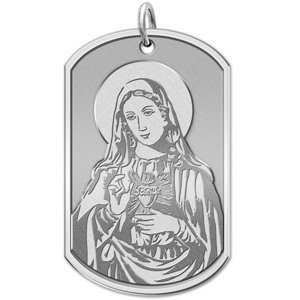 Immaculate Heart of Mary   Dog tag Religious Medal  EXCLUSIVE