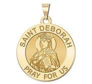 Saint Deborah Round Religious Medal  EXCLUSIVE